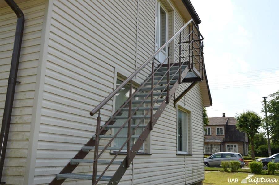 Lauko laiptai, priešgaisriniai laiptai P2-5