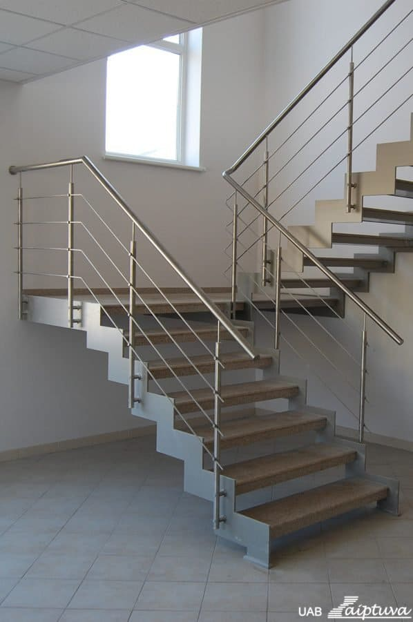 Metal construction staircase M19