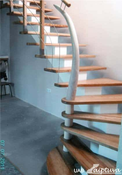 Metal construction staircase M4