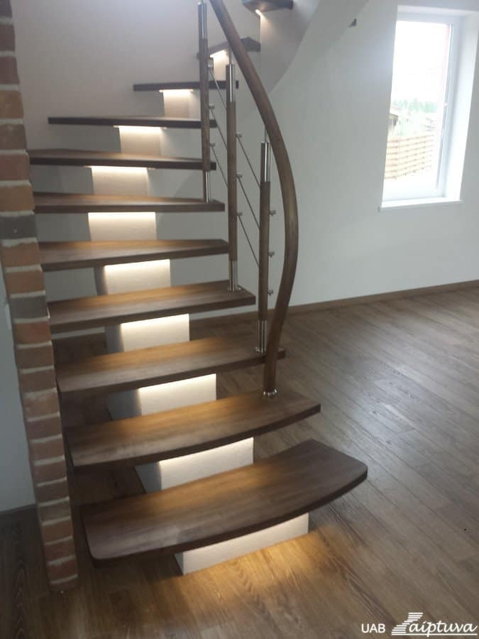 Metal construction staircase M6