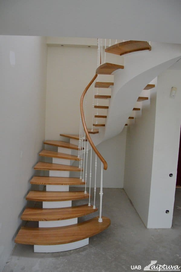 Metal construction staircase M7