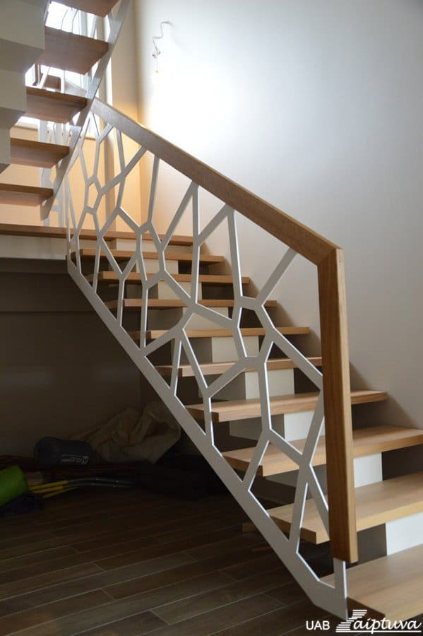 Metal construction staircase M9